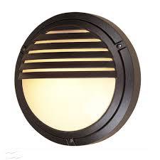 Outdoor Eyelid Lights Verona Round Outdoor Wall Light In Black Grilled Eyelid Ip54 Diecast Aluminium Firstlight V405bk