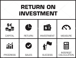Roi Chart Roi Return On Investment Chart Stock Vector Garagestock