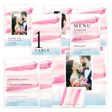 Brightly Striped Wedding Template Suite