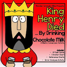 Metric Conversion Activity King Henry Died By Drinking Chocolate Milk