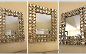 Diy mirror frame ideas Pinterest Pieces Frame Bathroom Round Glass Broken Enchanting Frames Mirror Champagne Large Rectangu Amber Mosaic Tile Patterns Centralazdining Wall Mirror Ideas Glass Champa Frames Craft Kit Bathroom Tile Hobby