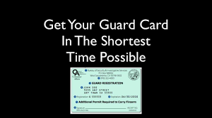 how to bee a security guard in california guard card training you