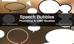 Photoshop Speech Bubble A Collection Of Free Speech Bubble Brushes For Photoshop