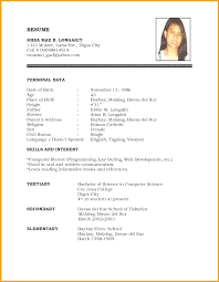Popular Job Resume Format Download Pdf Best Sample Resume Template