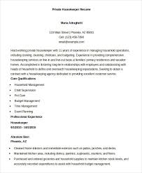 Housekeeping Resume Magnificent Housekeeping Resume Example 60 Free Word PDF Documents Download