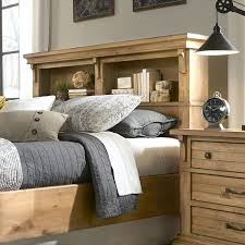 Features: -Available in queen and king sizes. -Bookcase headboard works  with panel