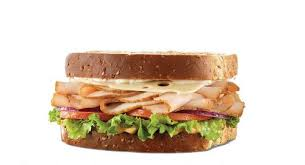 arbys roast turkey and swiss sandwich
