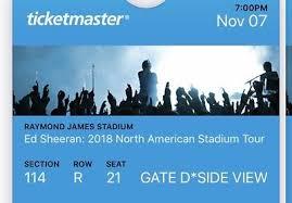 2 Ed Sheeran Concert Tickets Milwaukee Wi Oct 23rd 10 23