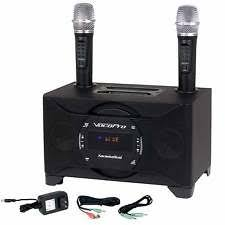 complete karaoke systems vocopro karaokedual 100w tablet smart tv karaoke system w 2 wireless microphones