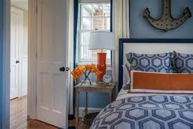 Orange Bedrooms Orange Accent Wall Bedroom