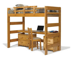 wood bunk bed with desk. Honey Loft Bed With Desk Top Wood Bunk W