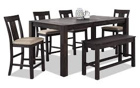 Dining room furniture charming asian Black Wood Table Height Counter Height Top Material Acacia Veneers Asian Hardwood Solids Bobs Discount Furniture Summit 42