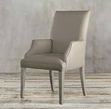 rh s hudson parsons fabric armchair refined good looks and fortable padding define hudson find this pin and more on dining room