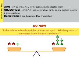 aim how do we solve 2 step equations using algebra tiles simple two worksheets multi worksheet