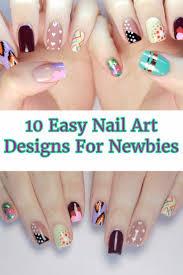 10 Easy Nail Art Designs For Newbies - Gwyl.io
