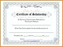 Scholarship Certificate Template For Word Memorial Scholarship Certificate Template Marvie Co