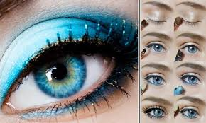 blue eyes makeup for prom night