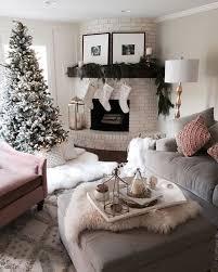 Christmas Home Decor Ideas living room decoration, winter style, cozy room  decor, white faux fur rug