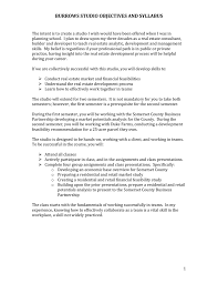 Burrows Studio Objectives And Syllabus