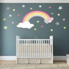 Rainbow Wall Decal girls wall stickers nursery baby room decor ...