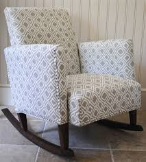 so my latest upholstery project here is diyish and not plain diy for a couple reasons first i didn t make the frame of the rocking chair
