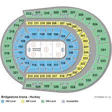 Bridgestone Arena Seating Chart Logical Bridgestone Arena Chart