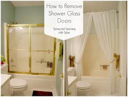 shower design mesmerizing howtoremoveshowerglassdoors bathtub shower curtain or glass door how to remove doors stall showers for small bathrooms ideas