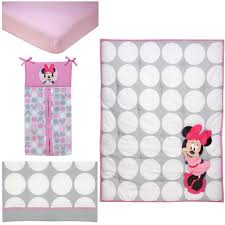 disney baby minnie mouse polka dots piece crib bedding set polkadots blanket toys