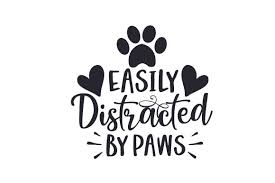 Download your collections in the code format compatible with all browsers, and use icons on your website. Easily Distracted By Paws Svg Cut File By Creative Fabrica Crafts Creative Fabrica