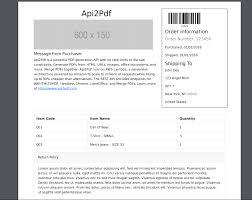 Sample Packing Slip Form Free Bootstrap 4 Packing Slip Html Template Api2pdf