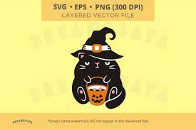 Note that the animate() method will not return the targeted element but an instance of svg.fx which will. Halloween Cat And Candy Bucket Svg Graphic By Dreamesaya Creative Fabrica