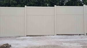 vinyl fence panels. Cost Inspirational Dazzling Post Concrete How To Install Vinyl Fence Panels