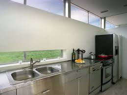 sink windows window love: rocio romero prefab kitchen love the long narrow window above the sink