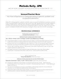 Licensed Practical Nurse Lpn Resume Sample Best of Sample Licensed Practical Nurse Resume Resume Examples Resume Sample