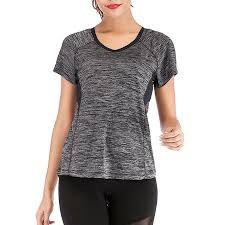 Outdoor Quick Dry T Shirt Womens Athletic Tops Gym Workout Exercise Fitness Moisture Wicking Running Yoga Shirt