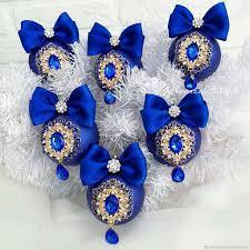 <b>Набор</b> ёлочных шаров в синем цвете с <b>украшениями</b> – купить на ...