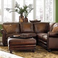 small sectional leather couch