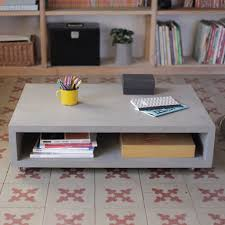 Grey With Shelving Acrylic Coffee Table