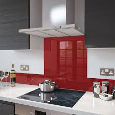 Splashback For Kitchens Deep Red Colour Splashback Glass Upstand 140 X 1000mm Deep Red