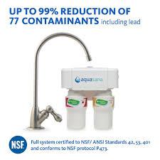 2 Stage Under Counter Water Filter Brushed Nickel Aquasana