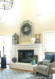 fireplace wall decor ideas decorating for walls awesome best over mantel modern fi