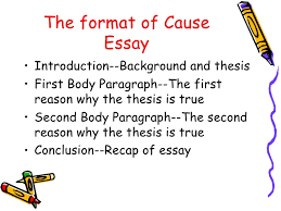 cause effect essay powerpoint new 11 the format of cause essay• introduction background