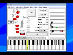 Saxtutor Software Based Saxophone Scales And Finger Chart
