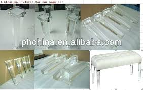 furniture legs acrylic lucite. Acrylic Legs For Furniture Tapered Leg Clear Stool Lucite .