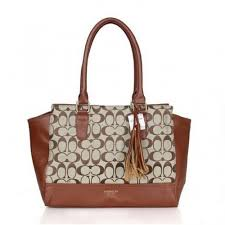 Coach Legacy Candace In Signature Medium Brown Satchels ASM