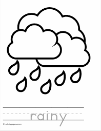 Small Picture Coloring Page Duck In The Free Printable Pages Rain At akmame