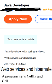 Web Services Resume Magnificent Java Developer Apply Now Save Th Your Resume Is A Match R With