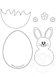 Easter Template Easter Bunny And Egg Template Easter Template