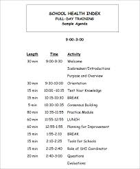 Agenda Outlines Templates Free 6 Training Agenda In Samples Examples Templates