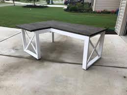 l shaped desk diy. Wonderful Desk Plan L Shaped Double X DeskPhoto Credit Amanda In Desk Diy